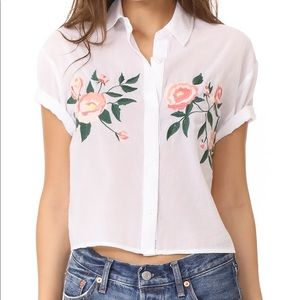 NWT Rails Gretta Embroidered Crop Top